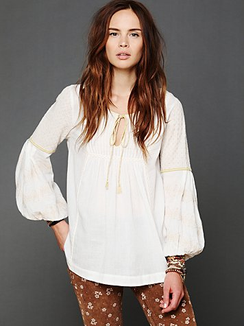 Free People Spun Gold Top