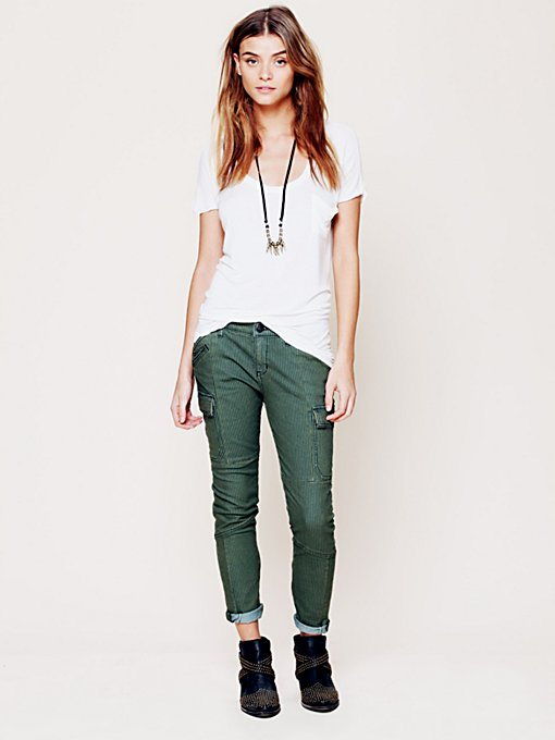 Free People Railroad Skinny in Colored-Jeans