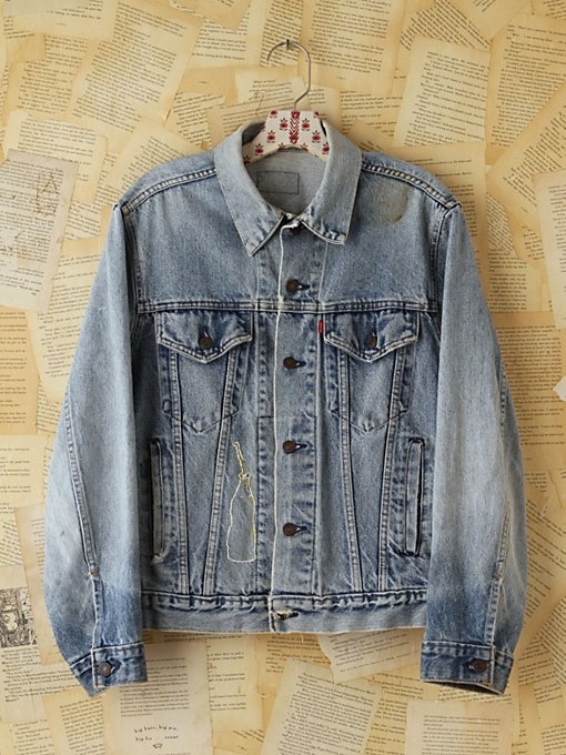 Free People Vintage Levis Denim Jacket in vintage-jeans