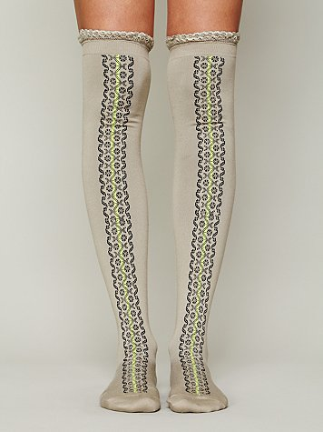 Daisy Trail Tall Sock