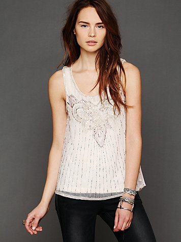 Stardust Pleated Tank