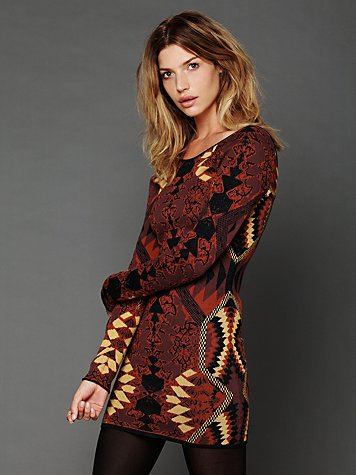 Free People Huntress of Man Bodycon