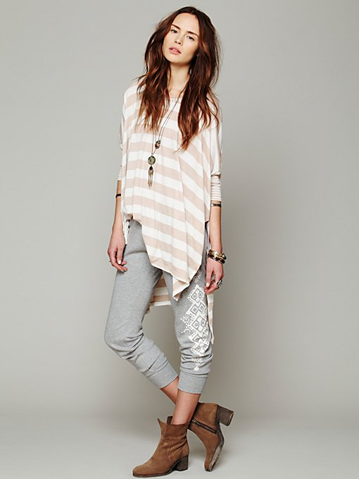 Side Printed Legging in Loungewear