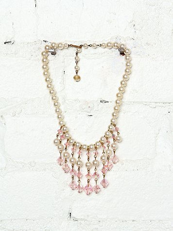 Free People Vintage Costume Pearl Necklace