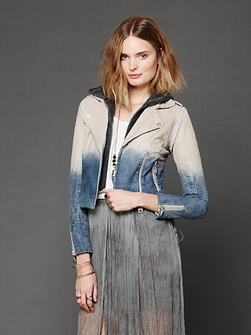 Dip Dye Leather Jacket in sale-new-sale