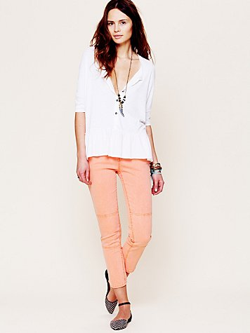 Free People Herringbone Skinny Crop