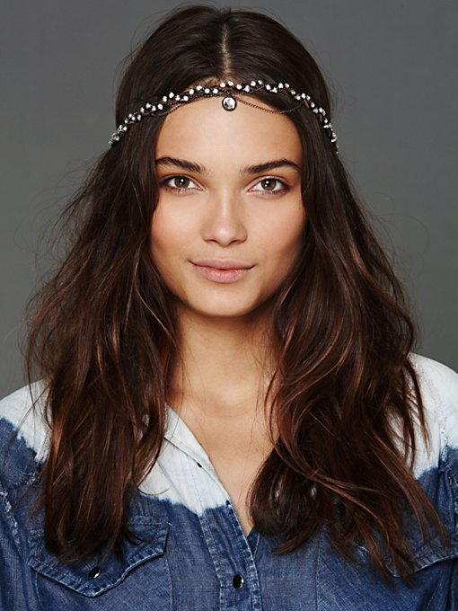 Gypsy Junkies Leather Swarvoski Headwrap in beach-hair-accessories