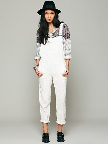 Free People Straight Eyelet Overall