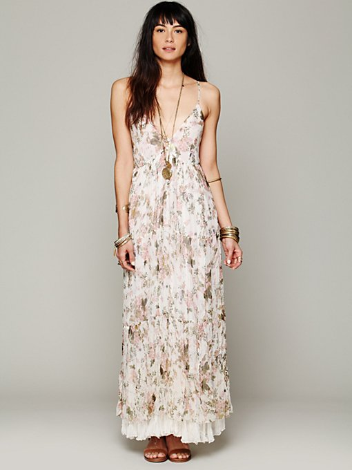 Mes Demoiselles Paris Heidi Printed Floral Dress in white-maxi-dresses