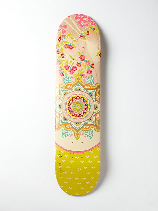 Limited Edition Free People Printed Skateboard in Take-Me-Away