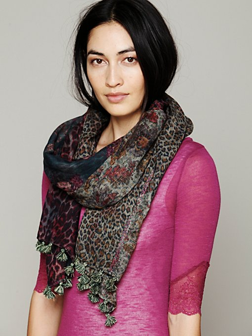 Patchwork Scarf in Chunky-Scarves