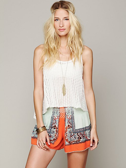 Color Between Borders Smocked Skort in clothes-shorts