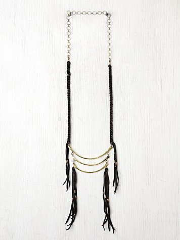 Marisa Haskell Leather Fringe Breastplate