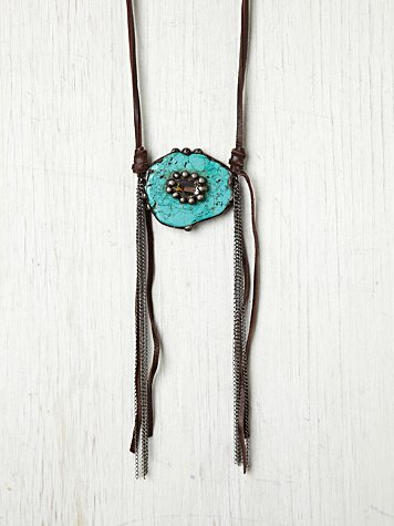 Gypsy Junkies Turquoise And Crystal Necklace