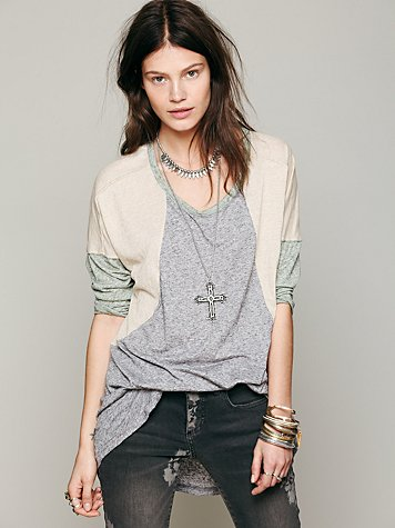 Free People Colorblock Sleepy Tee