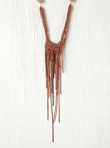 Dannijo Rose Fringe Collar