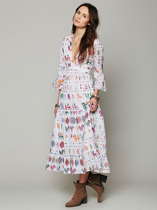 Carolina K Vintage Maxi Dress in white-maxi-dresses