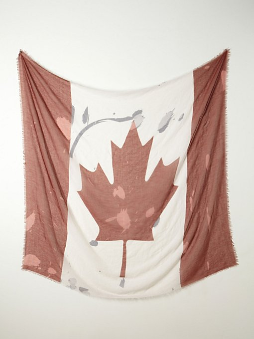 Canada Flag Scarf in accessories-scarves-ponchos