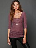 Brushed Lace Layering Top