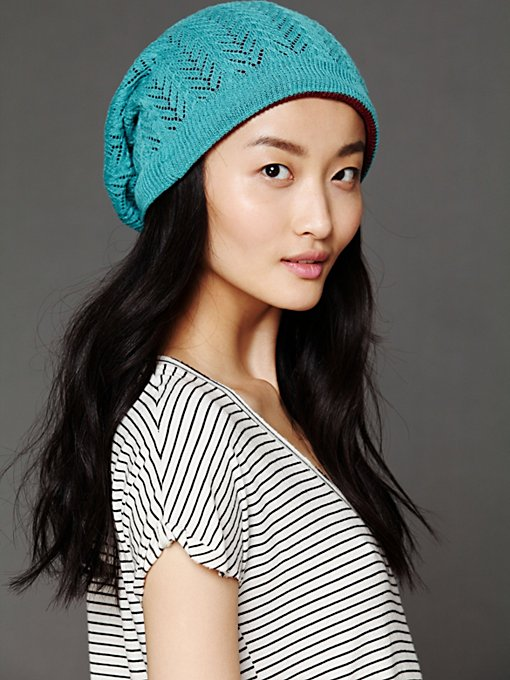 Twist Watch Slouch Beanie in beanies