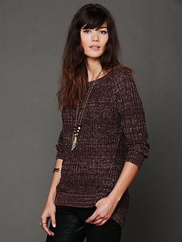 Free People Open Neck Sweater Tunic