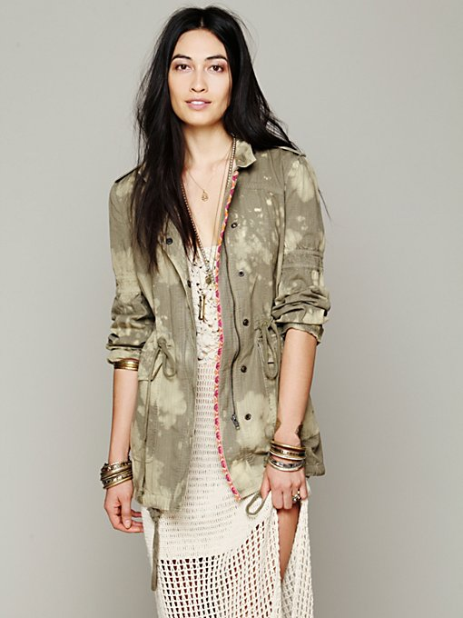 Free People Embroidered Parka in Parkas