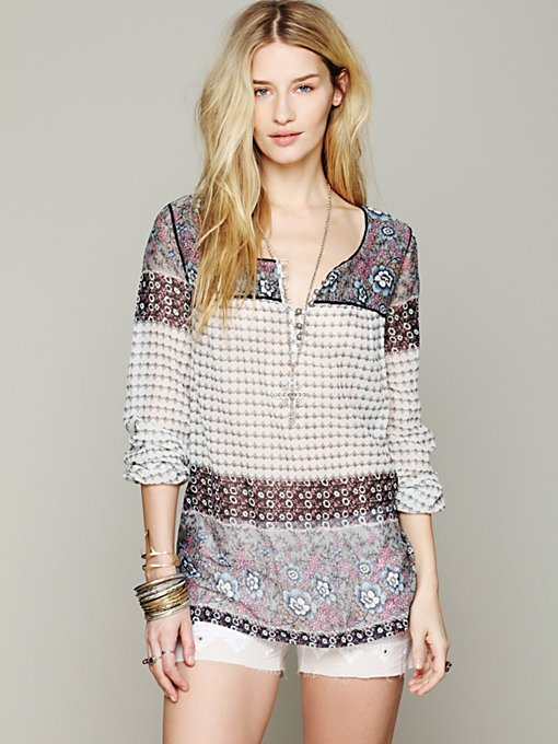 Free People India Print Tunic in tunics