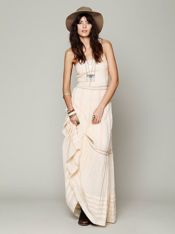 Candela Ami Pieced Lace Maxi