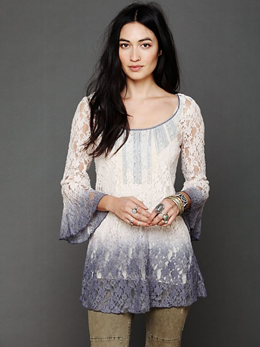Free People Moonrise Dip Dye Tunic in knit-tops