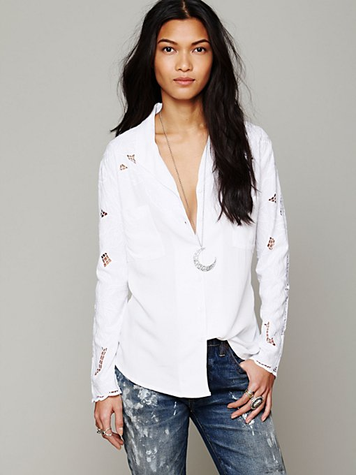 Jen's Pirate Booty Busy Bee Buttondown Shirt in designer-brand-clothing
