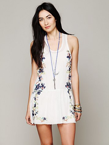 Free People Engineered Print Slip