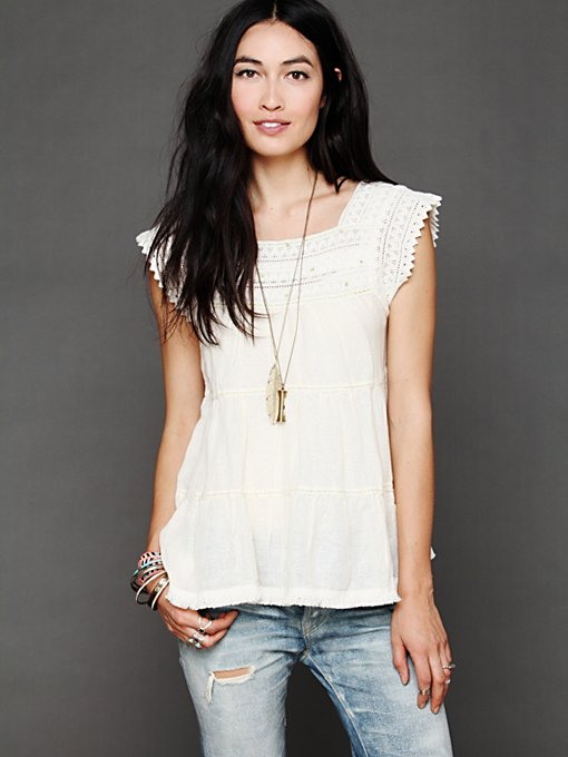 Free People Tiered Tank in Party-Tops