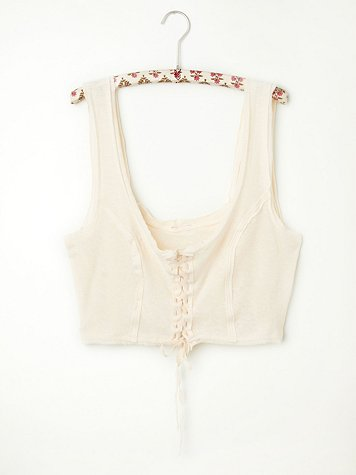 Lace Up Crop Cami