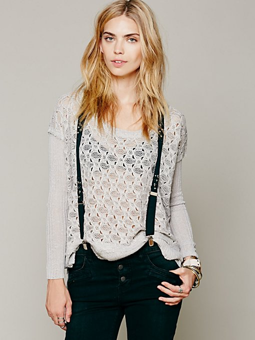 Free People Windows To My Soul Pullover