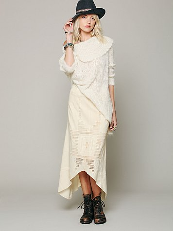 Free People Back And Forth Cutout Skirt