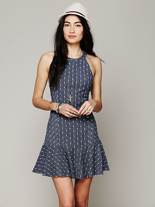 Polka Dot Tank Dress in clothes-dresses-fit-n-flare