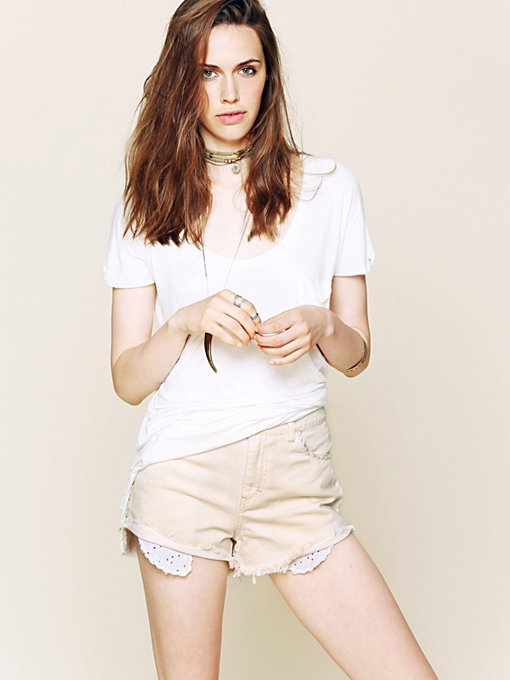 Eyelet Pocket Cutoffs in clothes-shorts-cutoffs