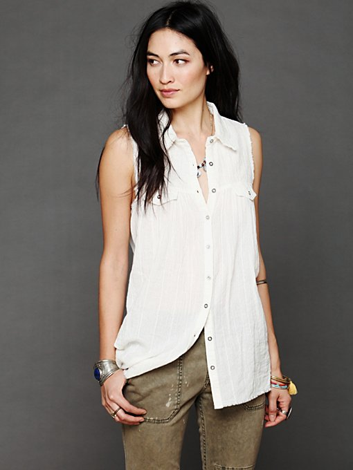 Free People High And Low Buttondown in Button-Down-Shirts