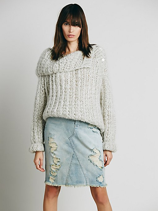 Free People LA Lady Denim Skirt in skirts