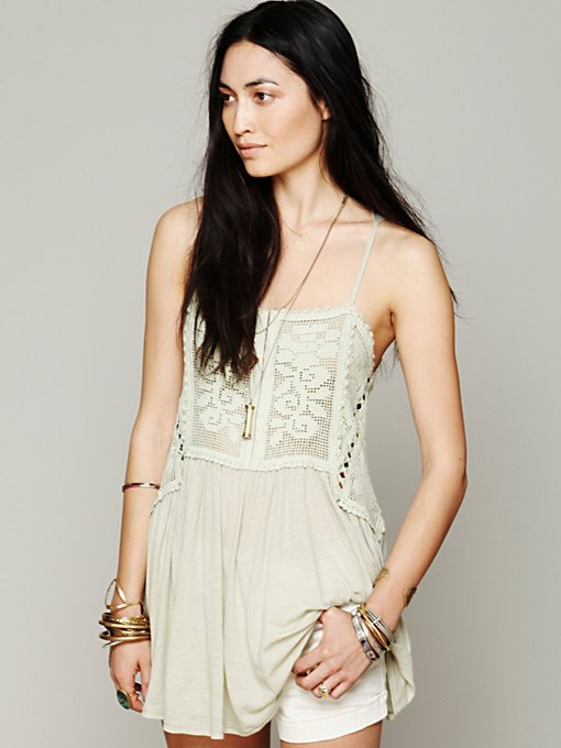 Free People FP X Greenhouse Rose Tank in knit-tops