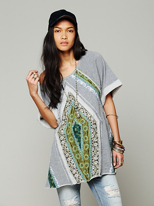 Free People Patchwork Meadow Tunic in oversized-sweaters