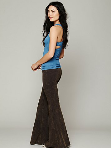 Free People Washed Extreme Knit Flare