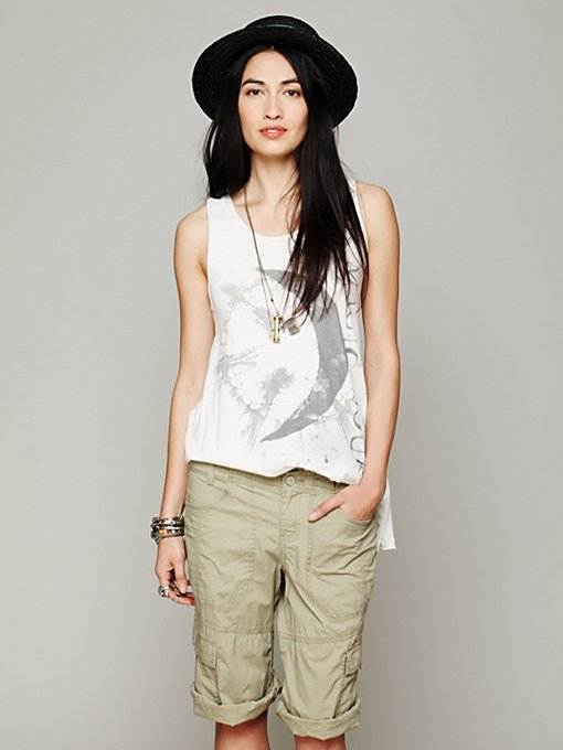 Free People Drapey Utility Crop in cutoff-shorts