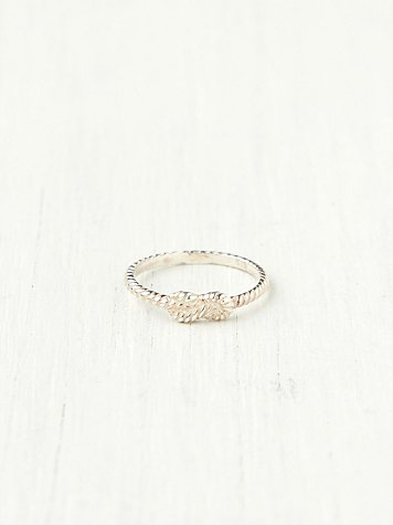 Zoe and Morgan Forget Me Knot Ring