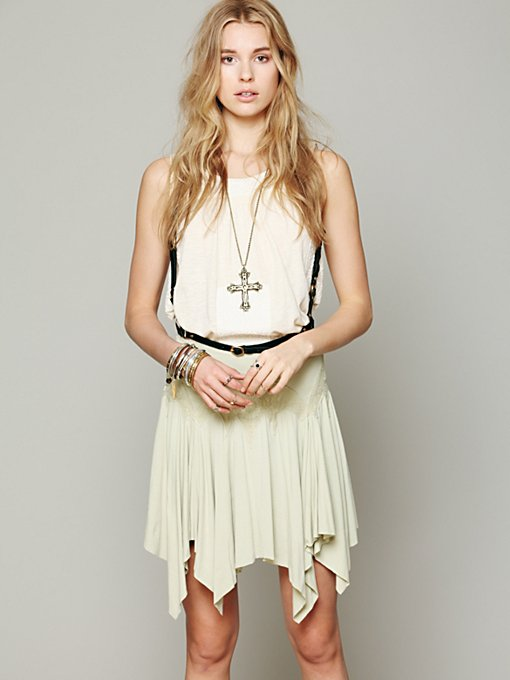 Free People FP X Cathedral Window Mini in mini-skirts