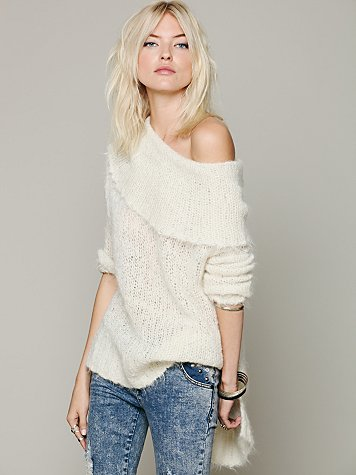 Free People Meg's Wool Cowl Neck Sweater