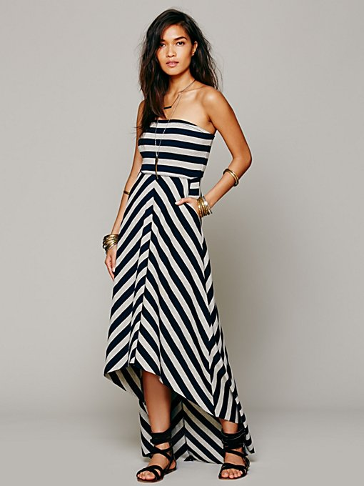 Free People Kristal's Striped Maxi in black-maxi-dresses