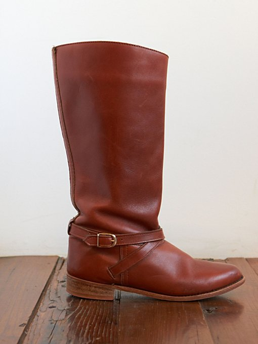 Free People Vintage Brown Leather Riding Boots in vintage-shoes