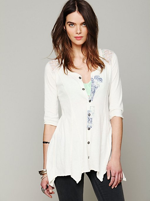 Free People We The Free Hanshaw Henley in knit-tops