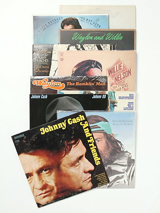 "Free People Vintage ""The Highwaymen"" Collection of Records in Vintage-Objects"
